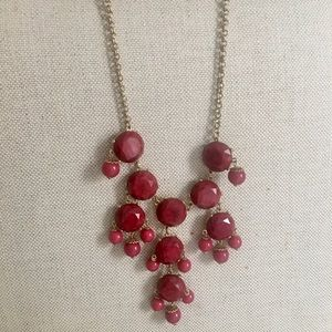 Red bead drop necklace